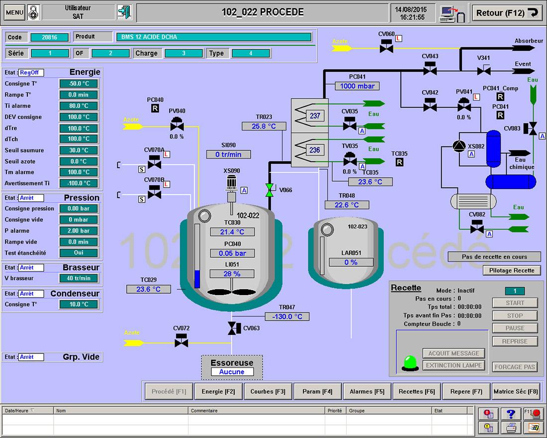 Etude de conception et de développement de l'automatisation d'un réacteur cryogénique