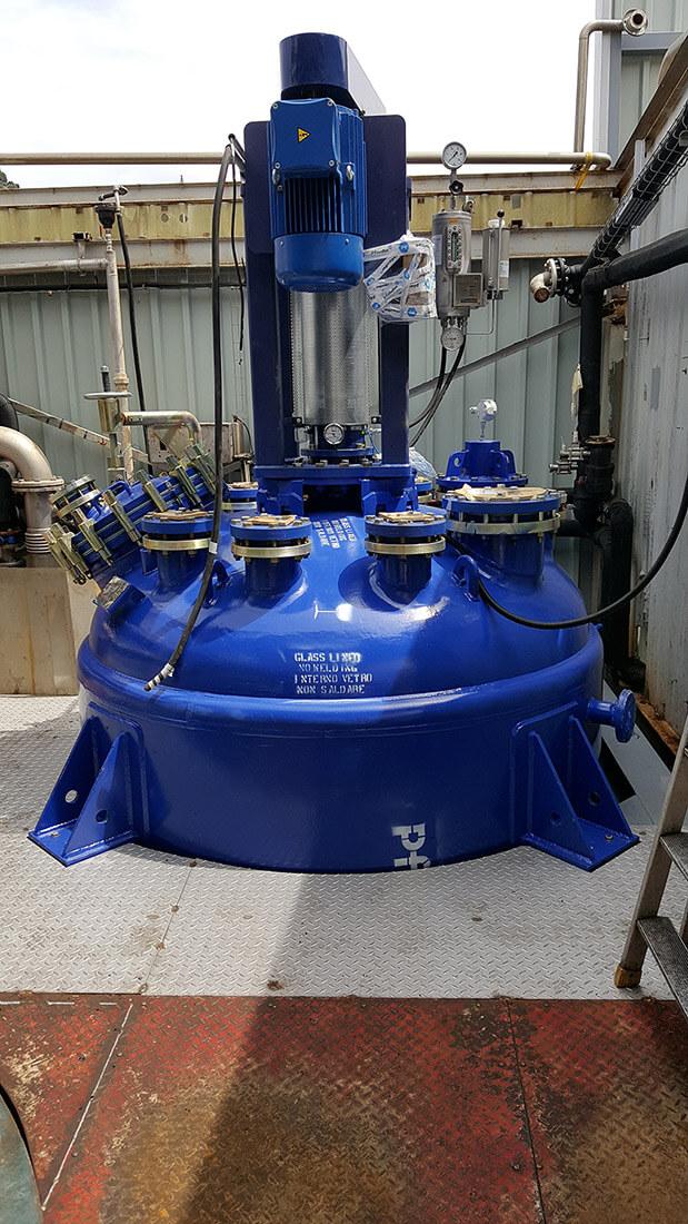 Etude et suivi installation d'un réacteur émaillé 6000l