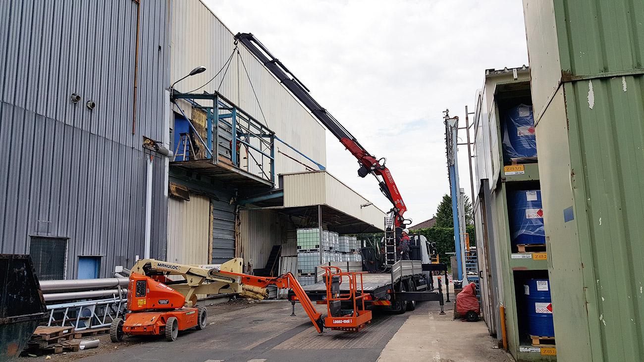 Revamping d'un site de production
