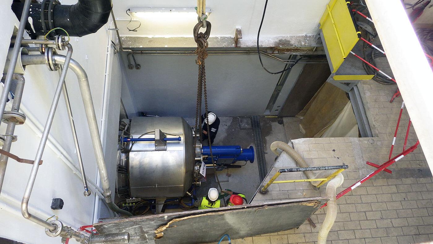Suivi de chantier de l'installation d'un filtre lisseur-sécheur