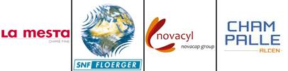logo clients AIGP Ingénierie : La Mestra, SNF, Novacyl et Champalle